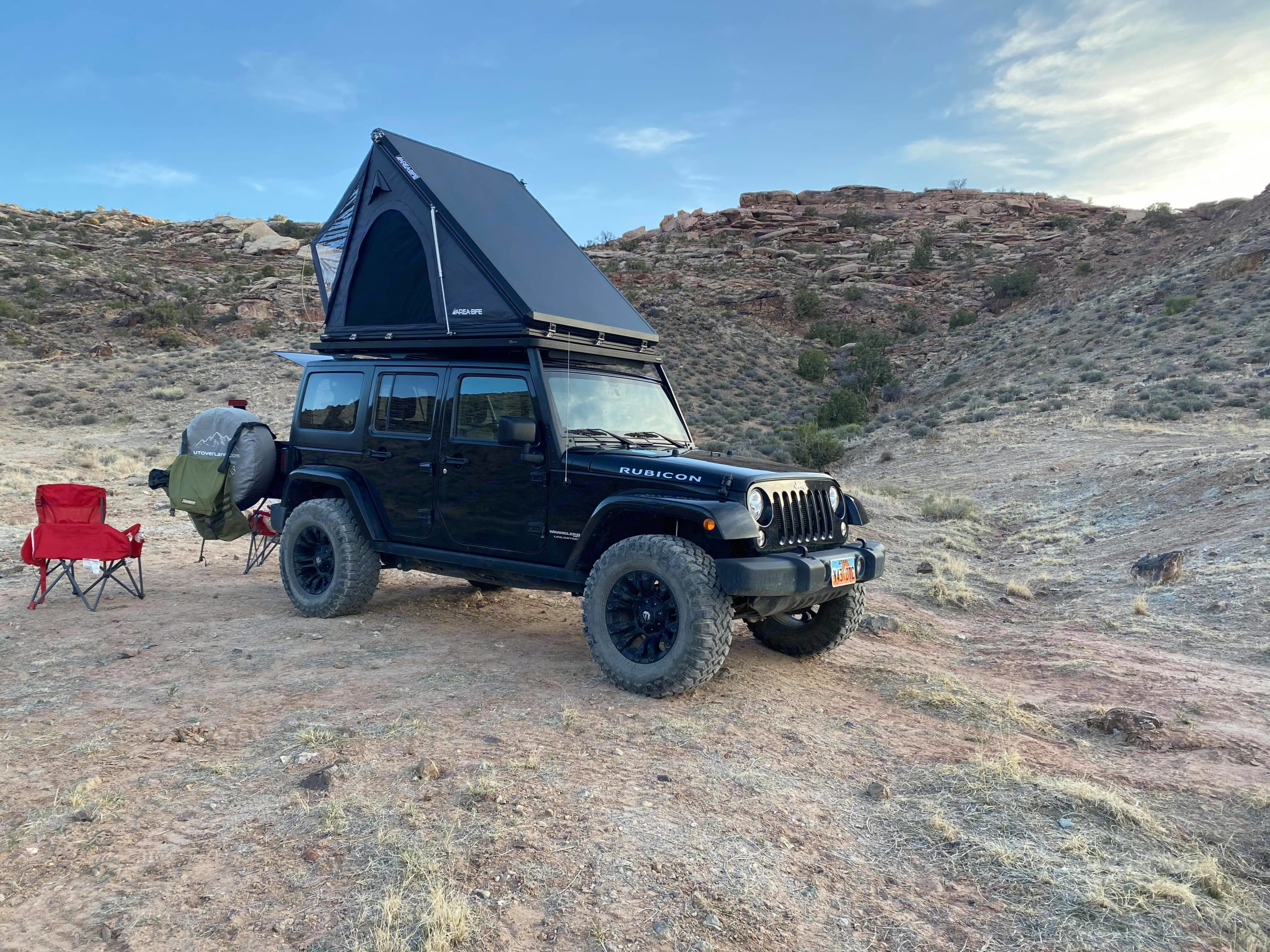 This is the current model of tent. Jeep Rubicon Wrangler Unlimited 4 door 2018