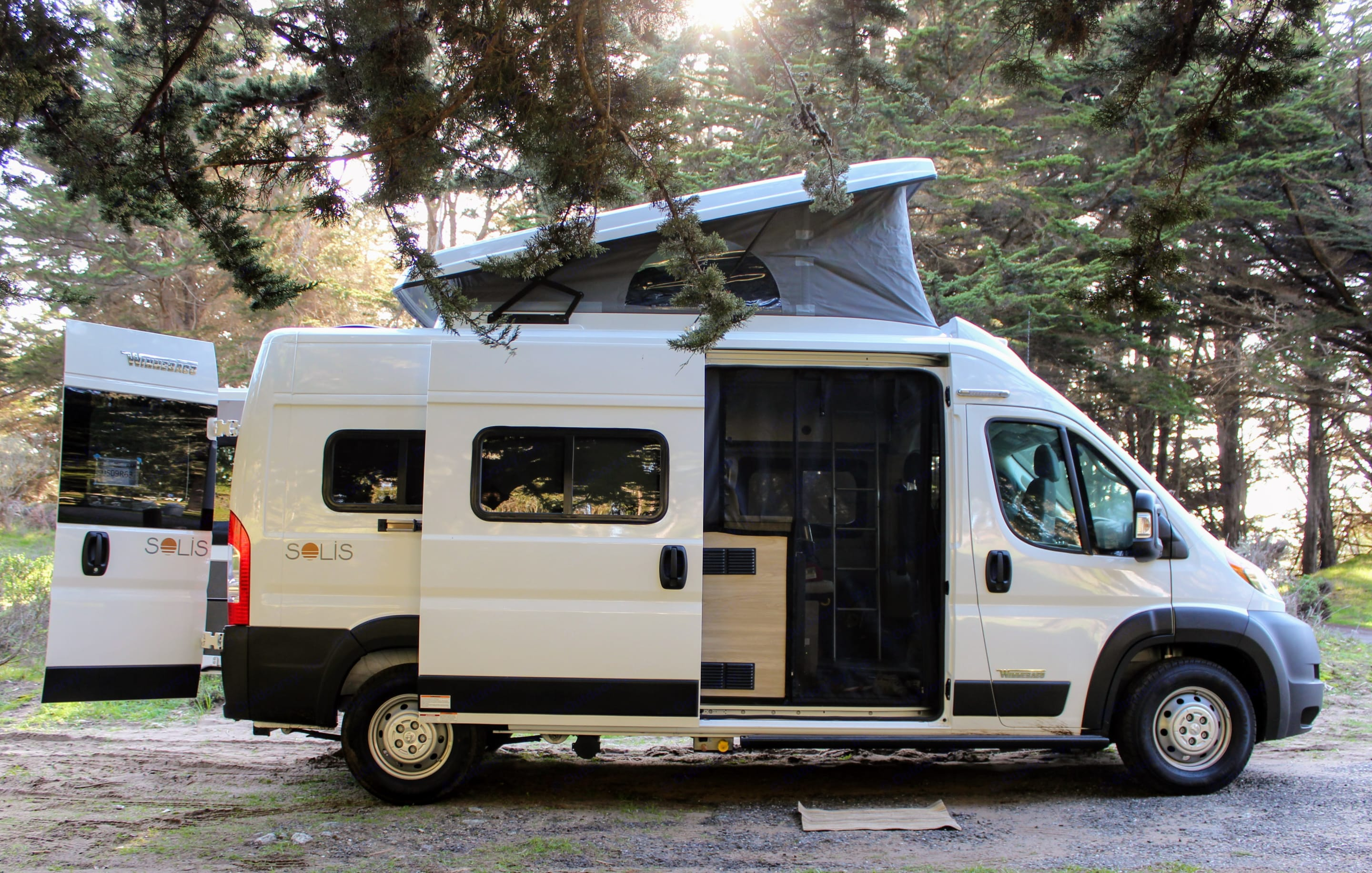 The Solis is one of the only camper vans on the market with automotive-grade seats & 3-point harnesses  -  a must-have when traveling with children.. Winnebago Other 2021