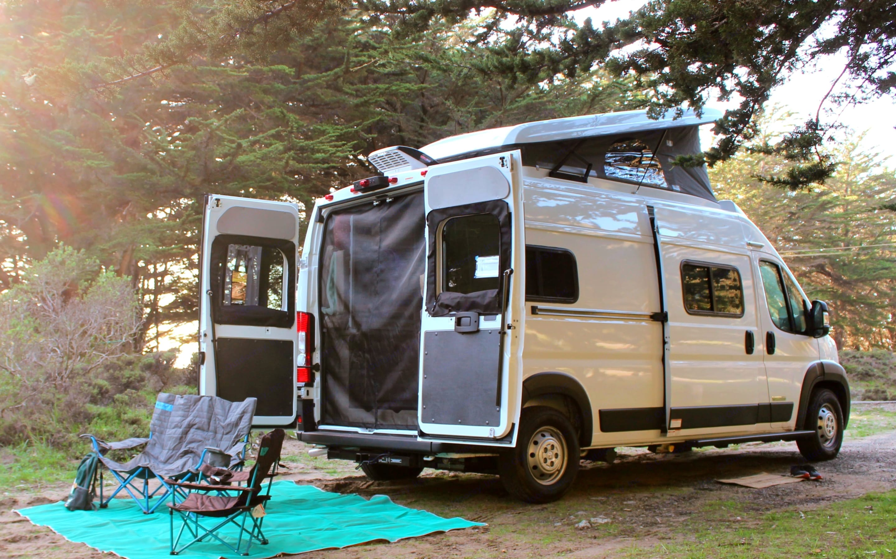 At less than 20 feet in length, the Solis is easy to drive and fits in most campsites.  Unlike most camper vans, it sits and sleeps four. . Winnebago Other 2021