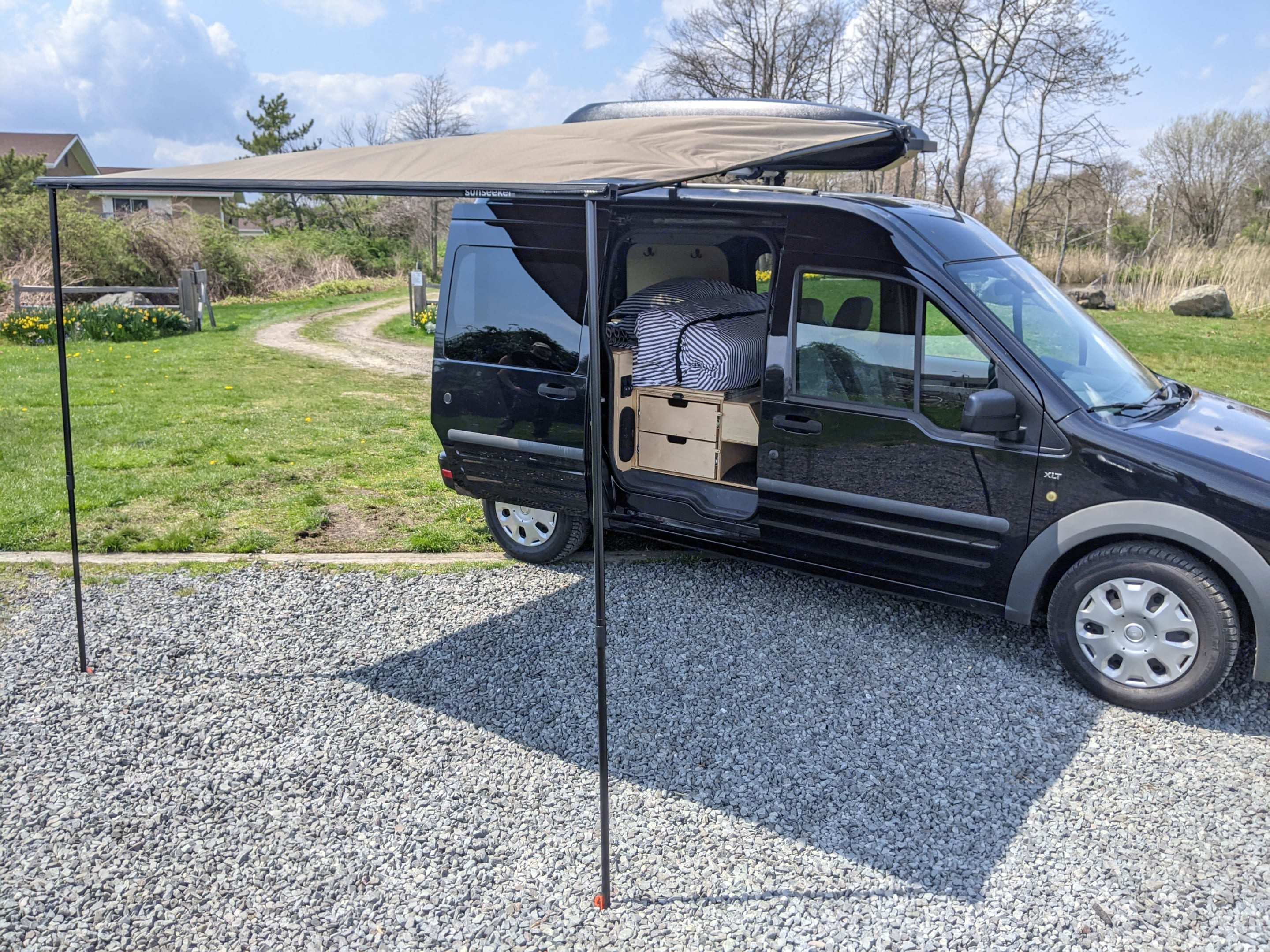 Exterior sun/rain awning. Ford Transit Connect 2012