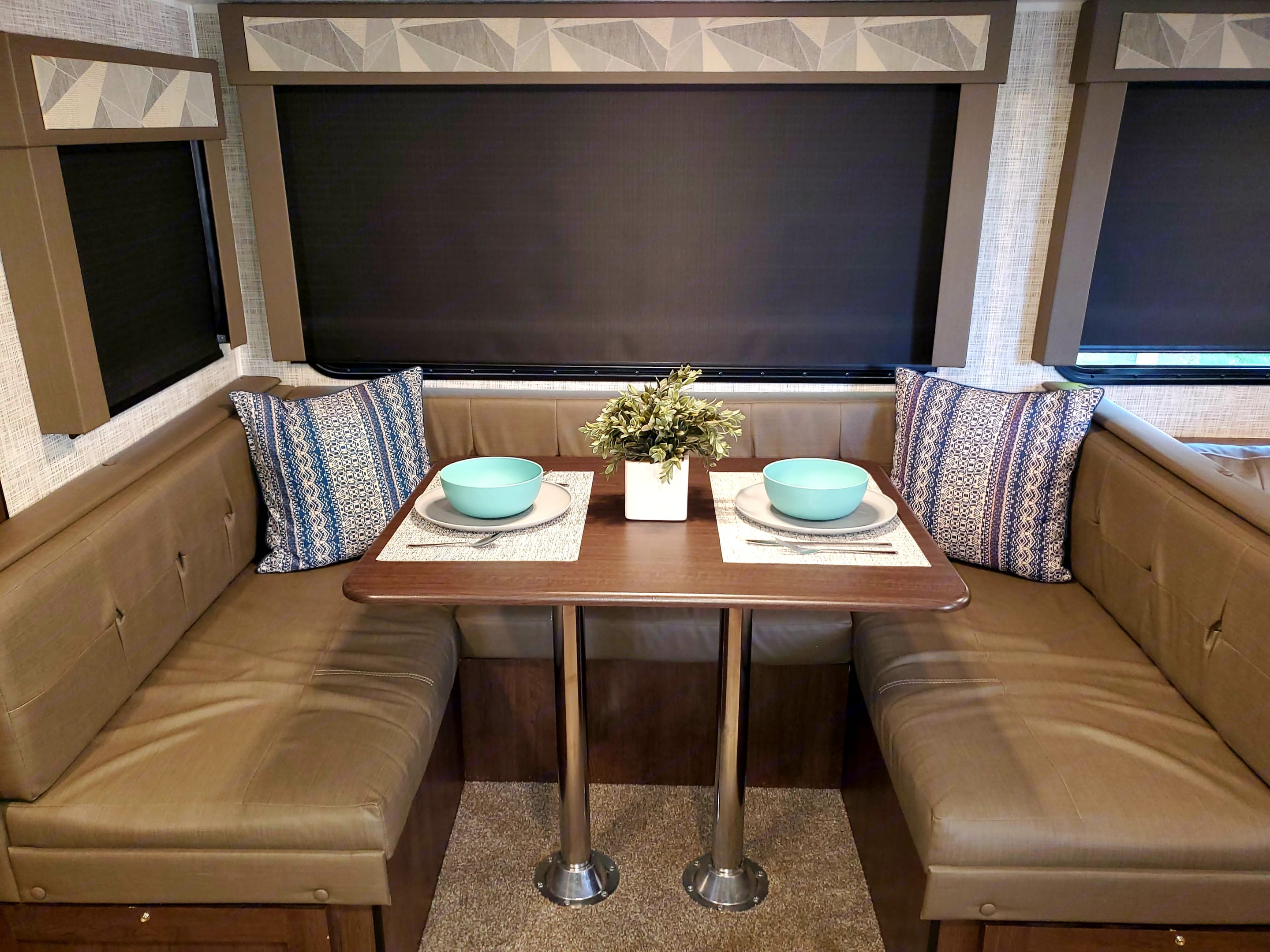 Table folds into sleeping area for 2 small/ medium people. Forest River Salem Cruise Lite 2020