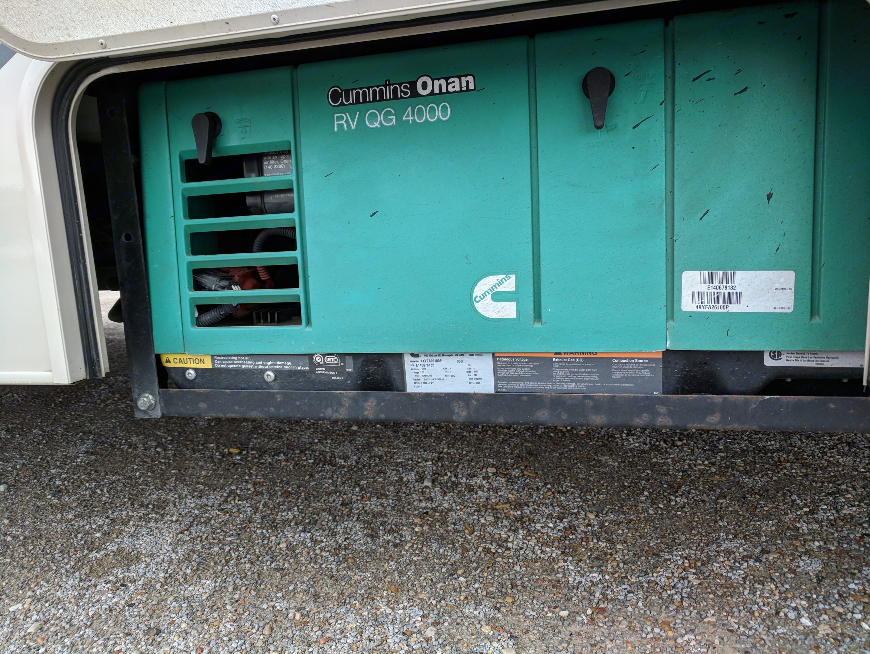 Generator GAS runs off of main fuel tank. Coachmen Leprechaun 2014