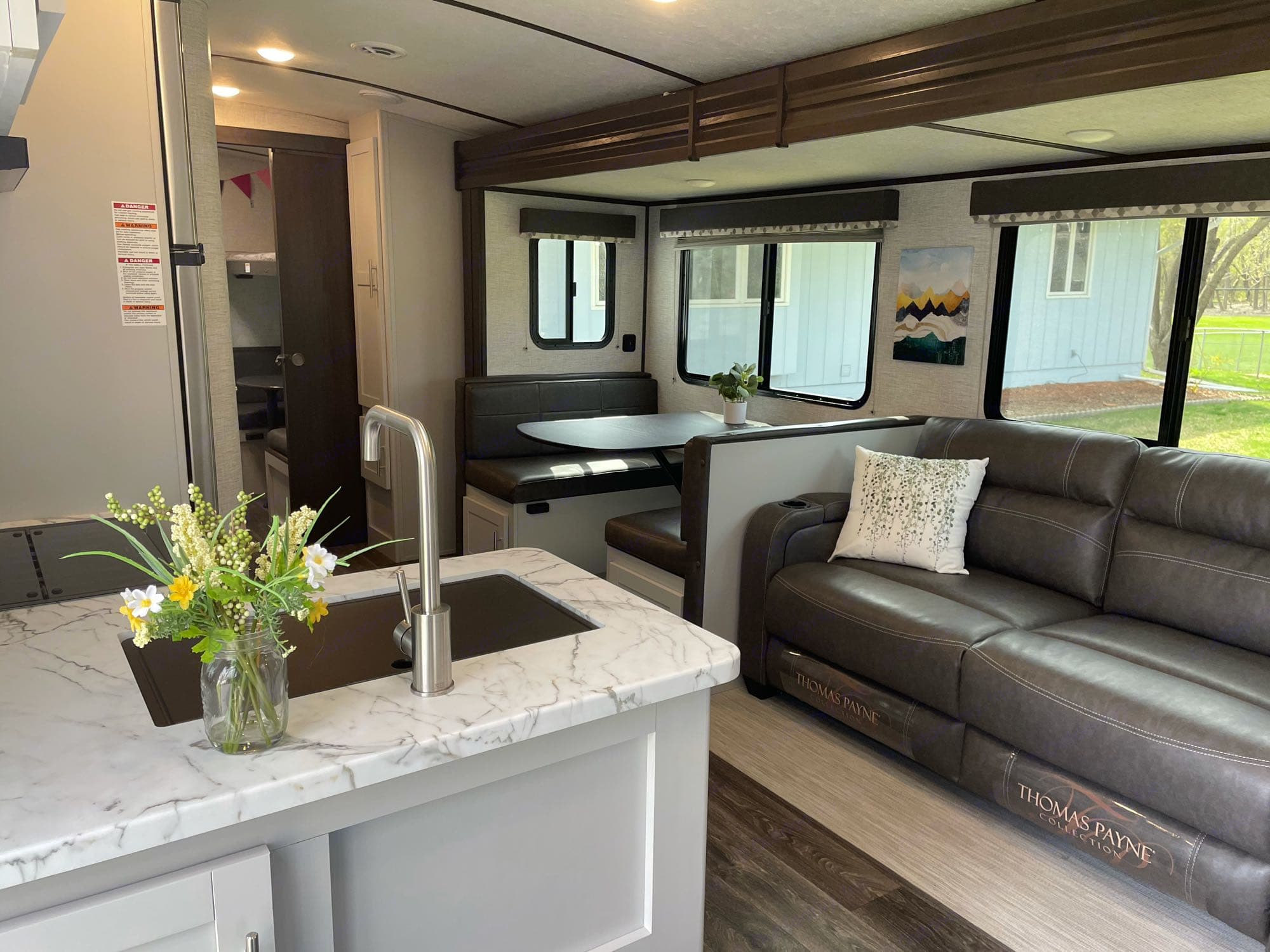 Lots of windows, bright decor, and the  high barrel ceiling make for great space when you have to be inside!. Keystone Bullet 2021