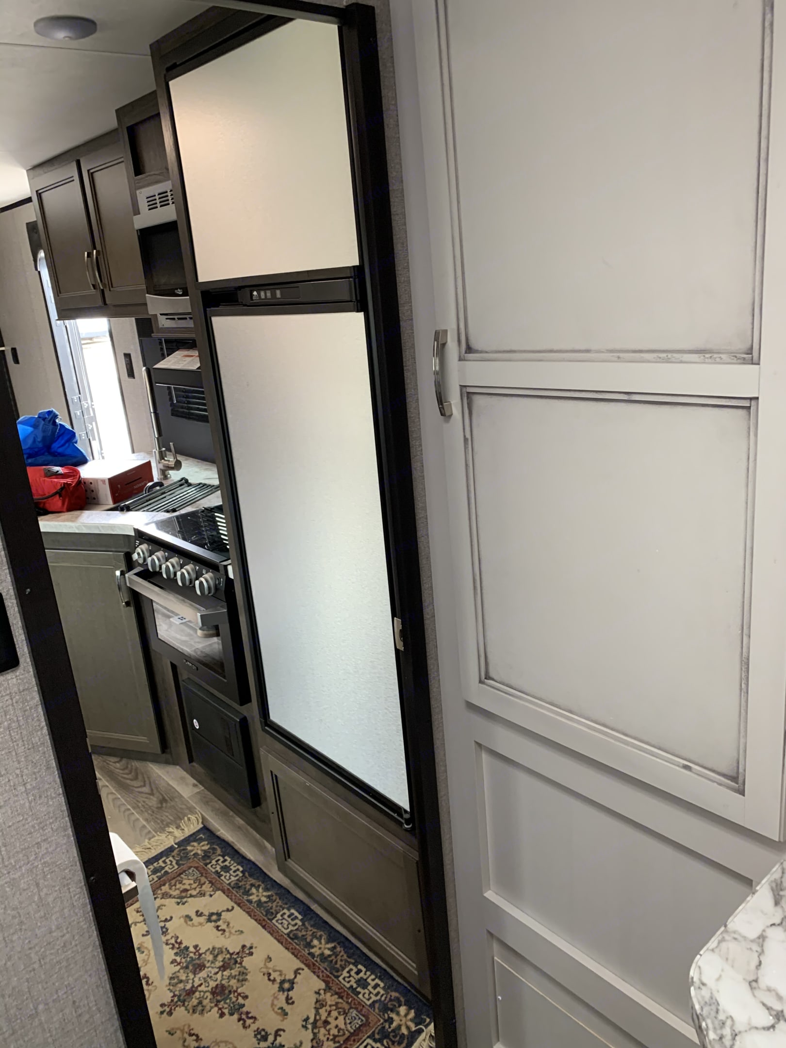 Tons of pantry storage. Jayco Jay Feather 2020