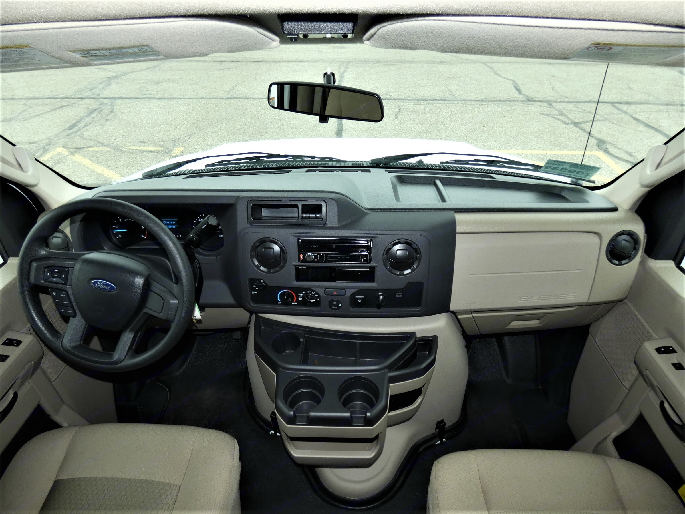 Roomy with usb capability and phone pairing for GPS!  Lots of leg room!. Thor Motor Coach Four Winds 2021
