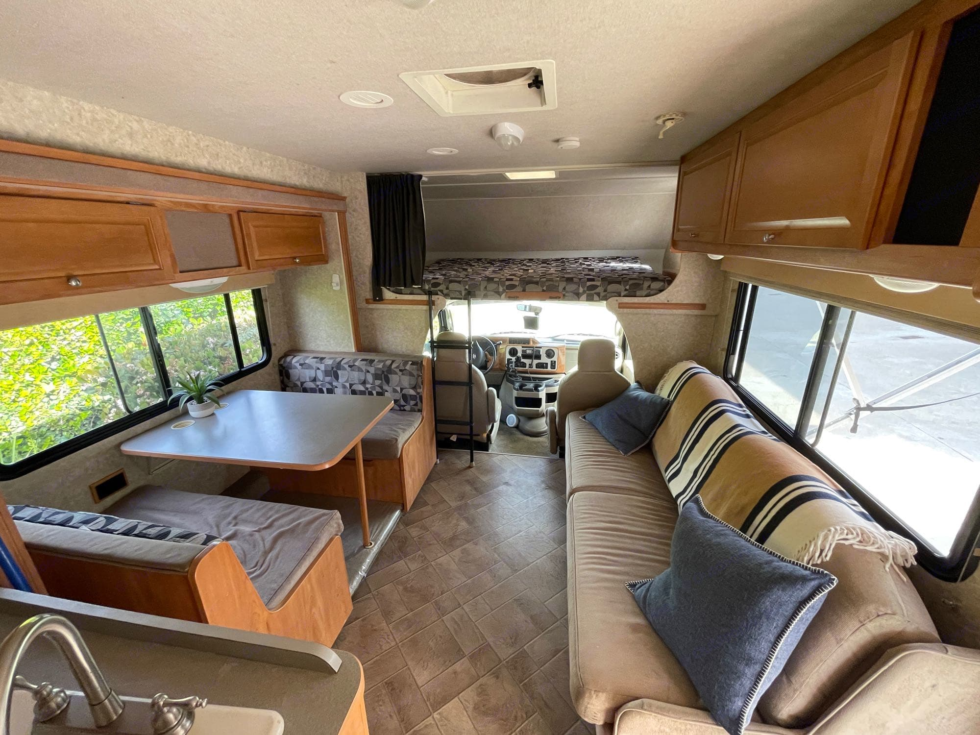 the slide out gives really opens up the space. Winnebago Access 2010