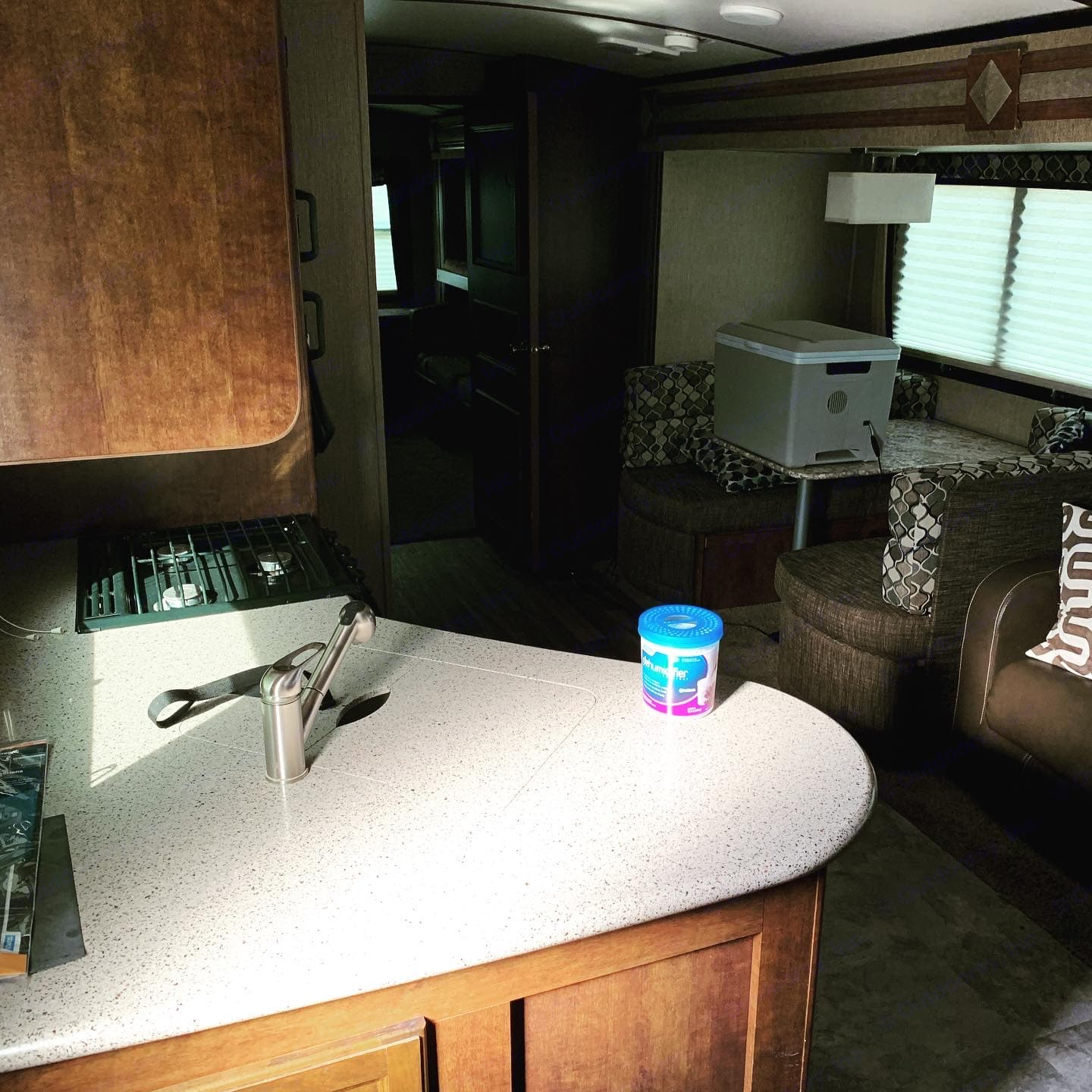 As you enter the rig, the kitchen is located directly to your left.. Keystone Outback 2017