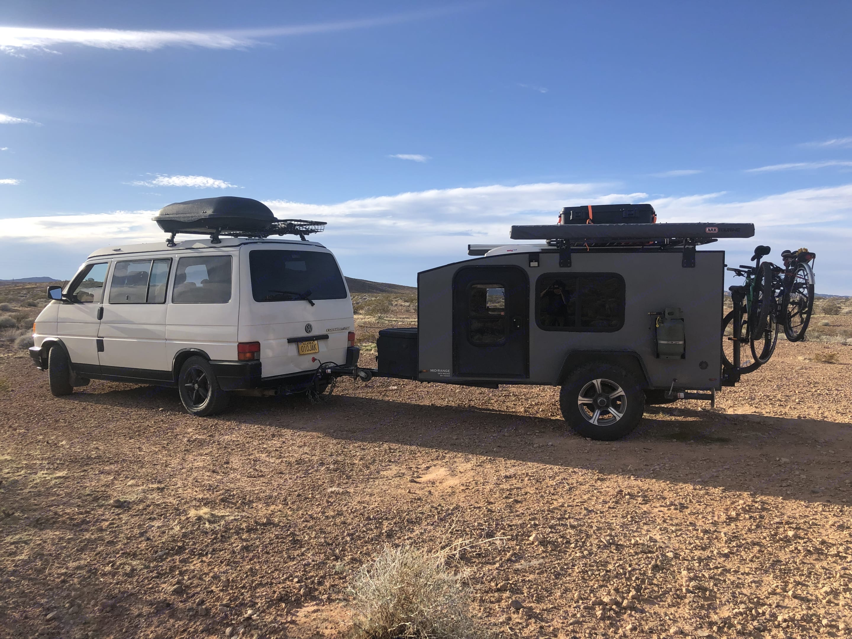 Towing with a minivan. Bike rack not included.. Hiker All-Terrain Camper 2019