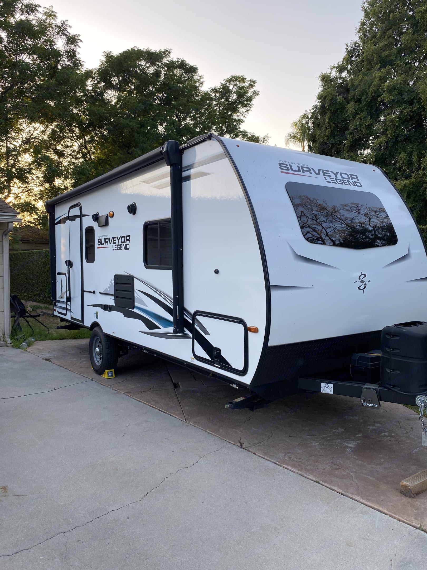 Light enough to tow with smaller vehicle. . Forest River Surveyor 2021