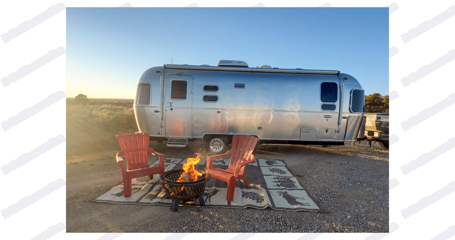 Time to relax by the fire. . Airstream International 2018