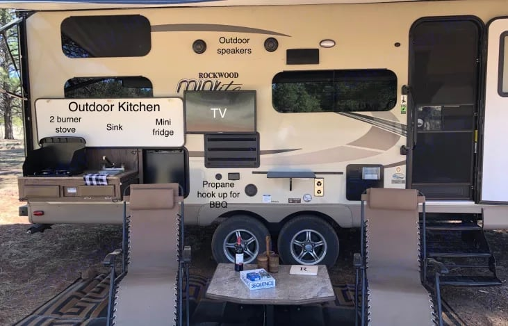 Exterior with outdoor kitchen . Forest River Rockwood Mini Lite 2018