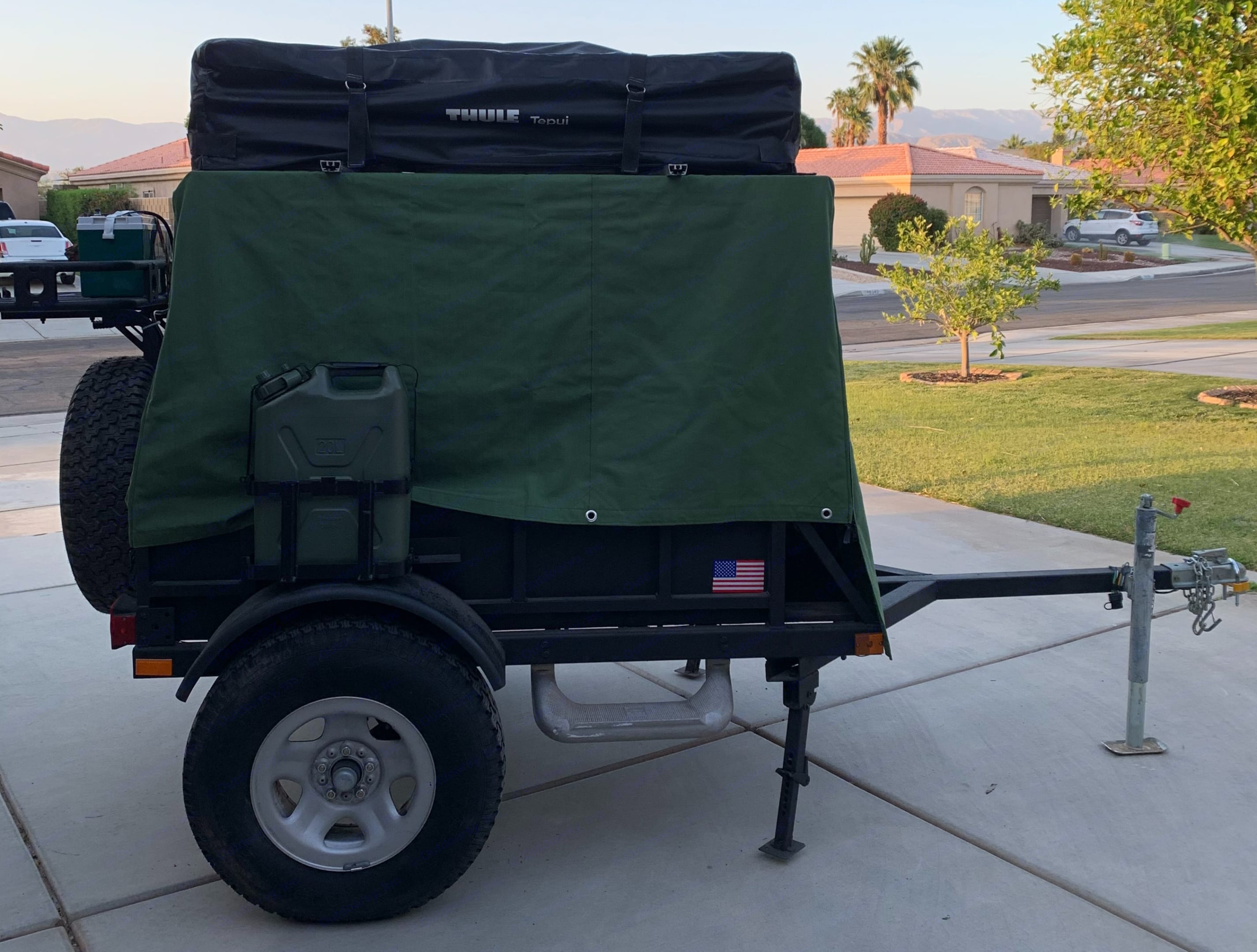 Road Ready! Front Leveling jacks down. Tepui Rooftop Tenet Overland -Utility 2020