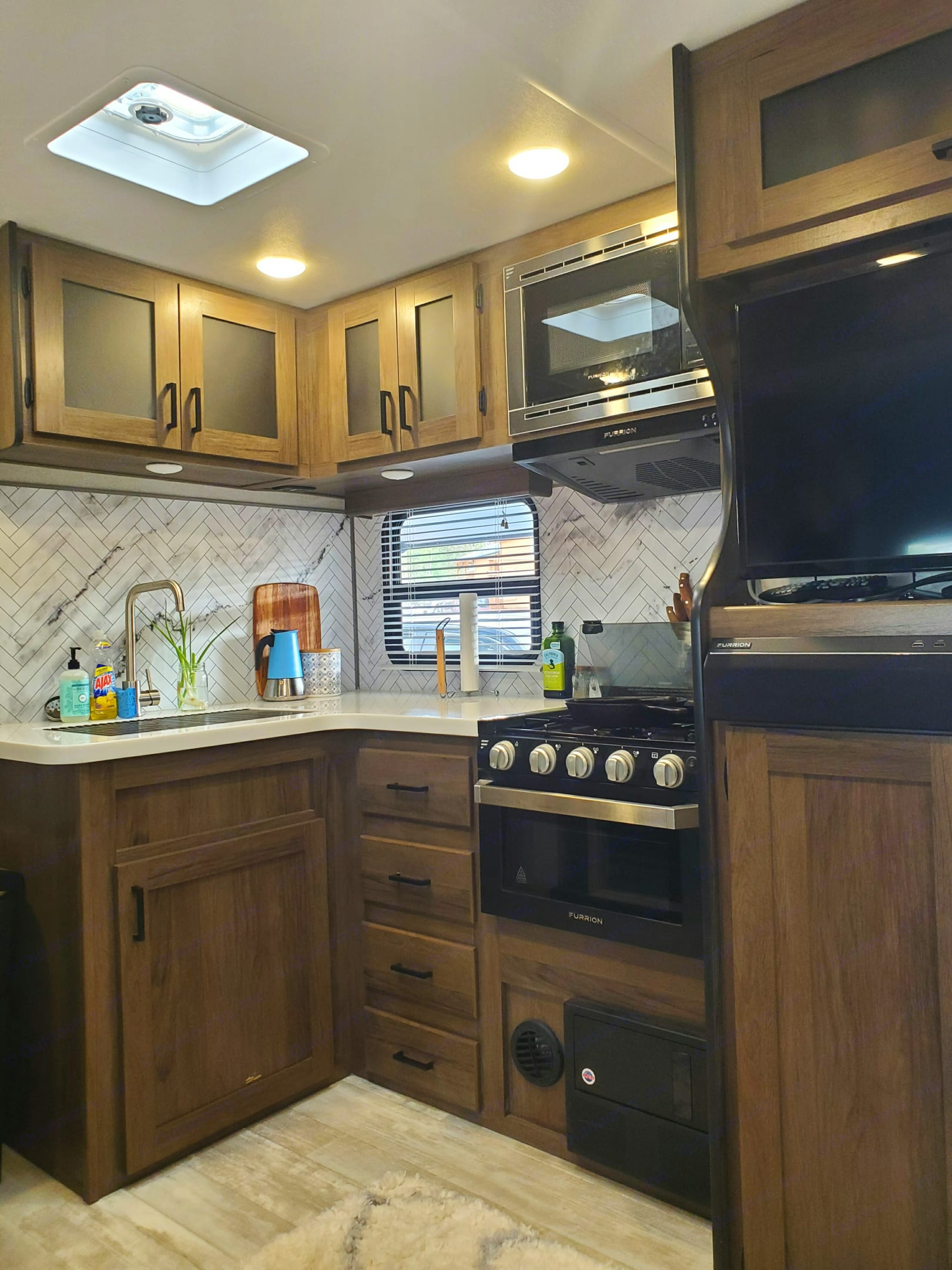 The kitchen has everything you need to cook a nice meal for the whole family!. Forest River Tracer 2021