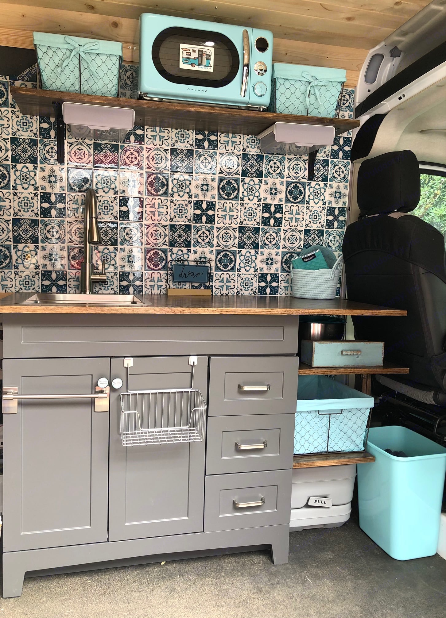 Large counter space and full size sink with pull down faucet.  All the comforts of home.. Dodge Ram 1500 2019