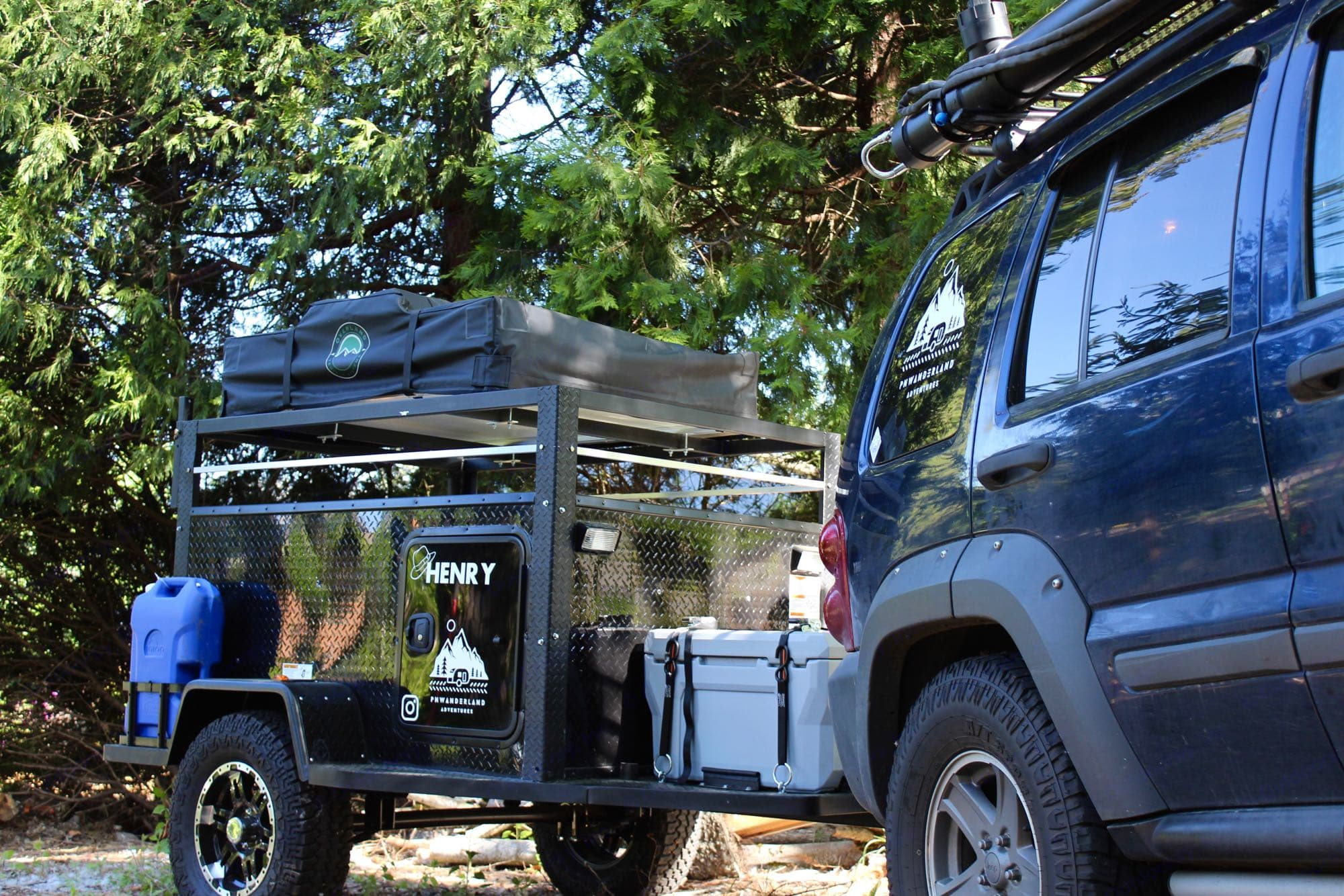 Henry Storage Trailer/ Roof top Tent. 3 Feathers Manufacturing Outback 2021