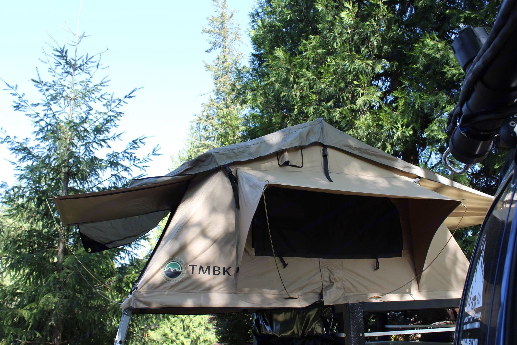 2 Person roof- top tent-- queen. 3 Feathers Manufacturing Outback 2021