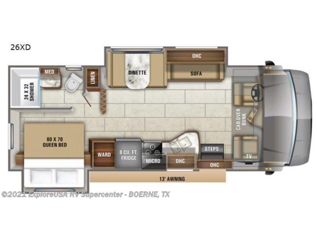 Floorplan. Jayco Redhawk 26XD 2021