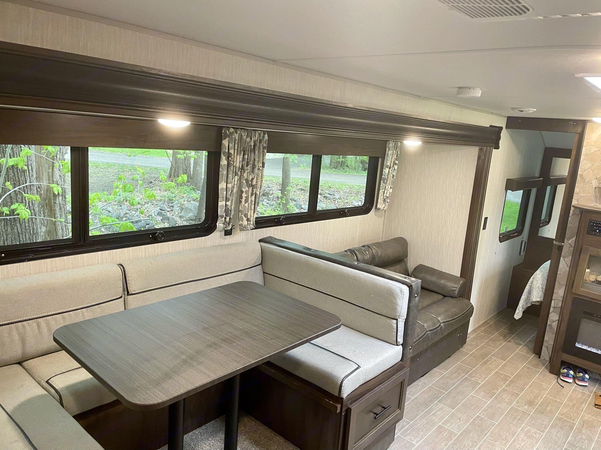 Dinette, sofa, & bedroom.. Forest River   Cherokee   Grey Wolf 26DBHBL 2020