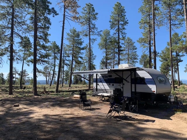 Mongolian Rim *camping chairs shown not included in rental. Forest River Cherokee Wolf Pup 2021