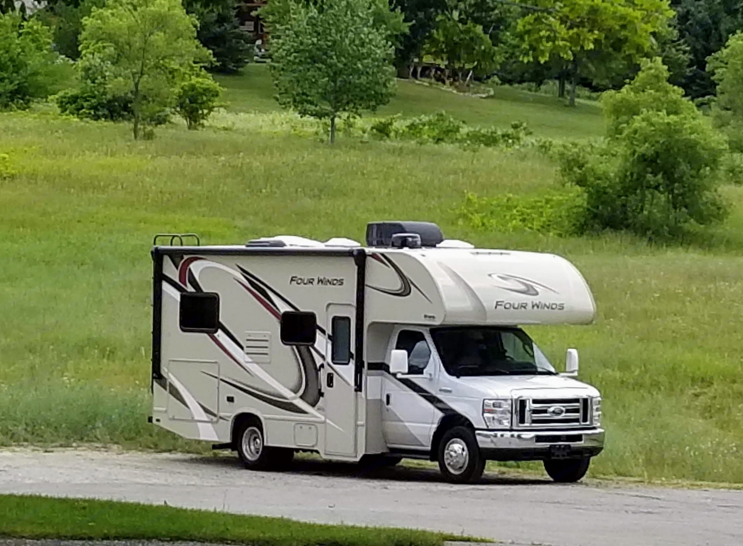Just out enjoying the wineries in Traverse City, Michigan!. Thor Motor Coach Four Winds 2020
