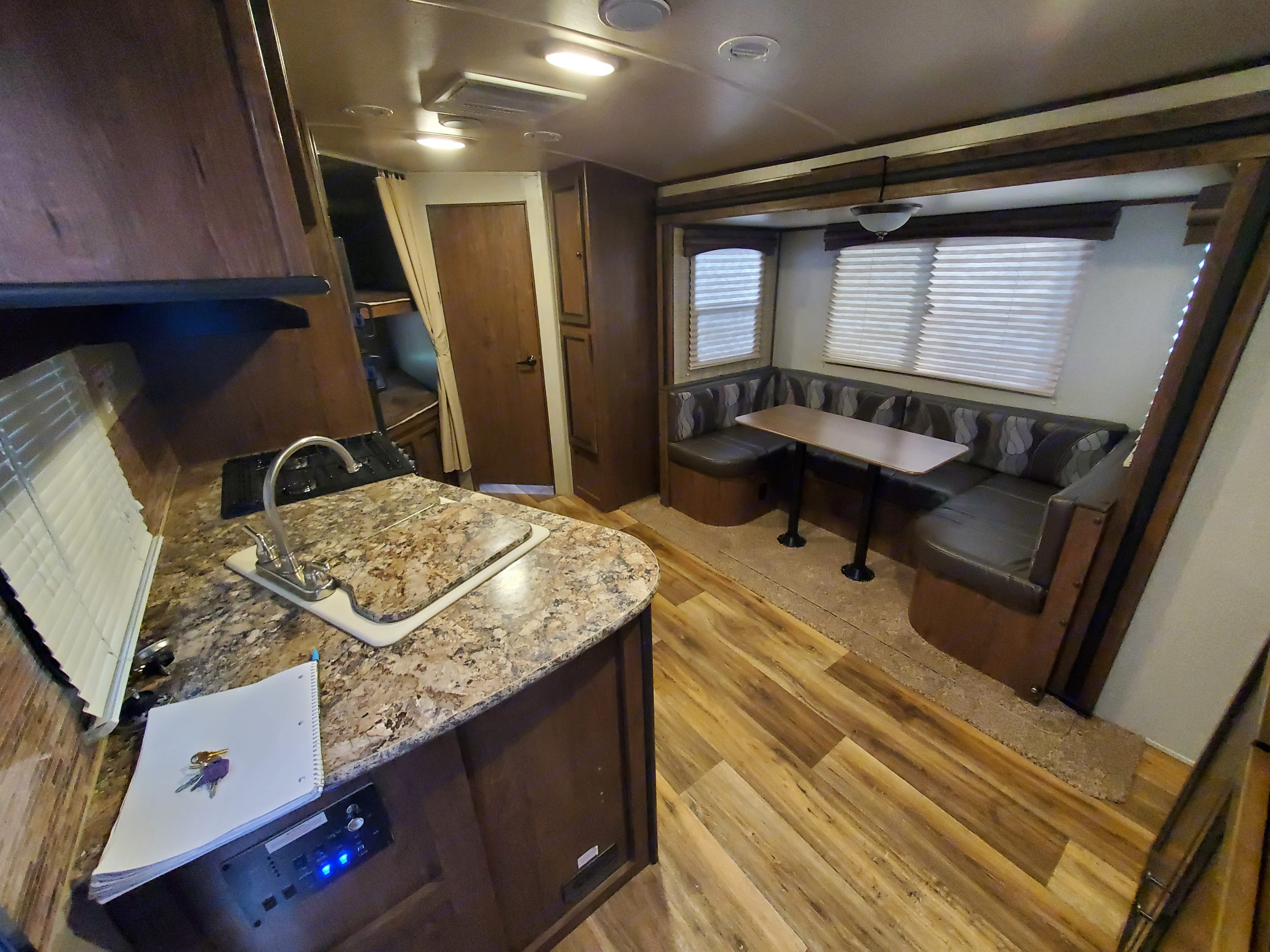 open space with slide out Dinette that folds into bed with storage under seats. . Other Other 2017