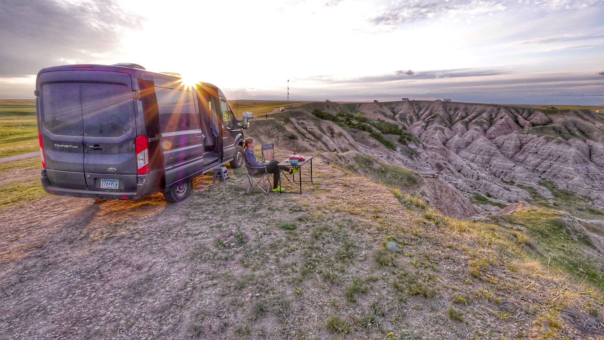 Boondocking outside the Badlands. Ask us about our experiences boondocking. We love to share what we've learned!. Ford Transit 2015