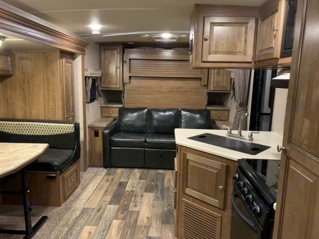 Picture with Murphy Bed up  . Forest River Rockwood Mini Lite 2017