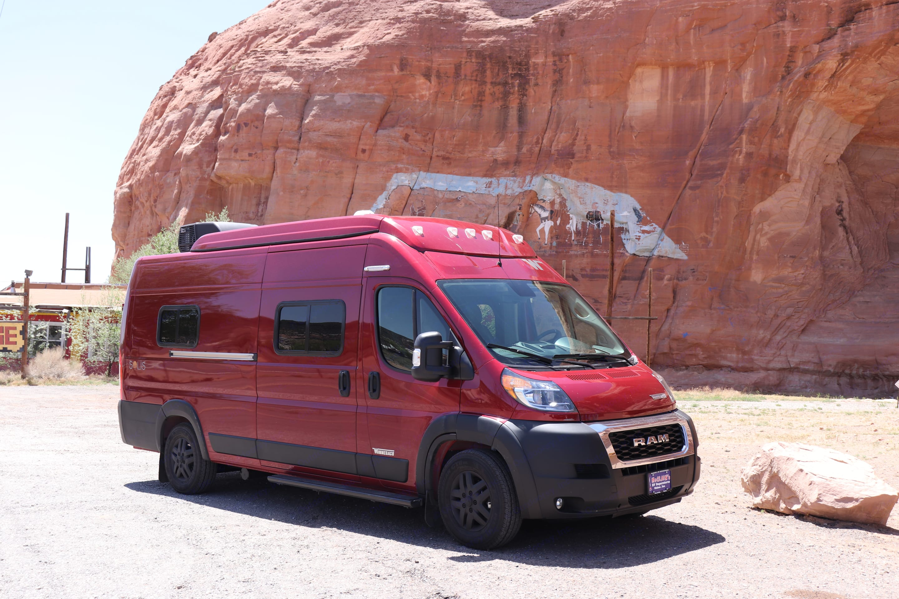 The color of this home on wheels makes it the gem of the campground. Winnebago Solis 2021