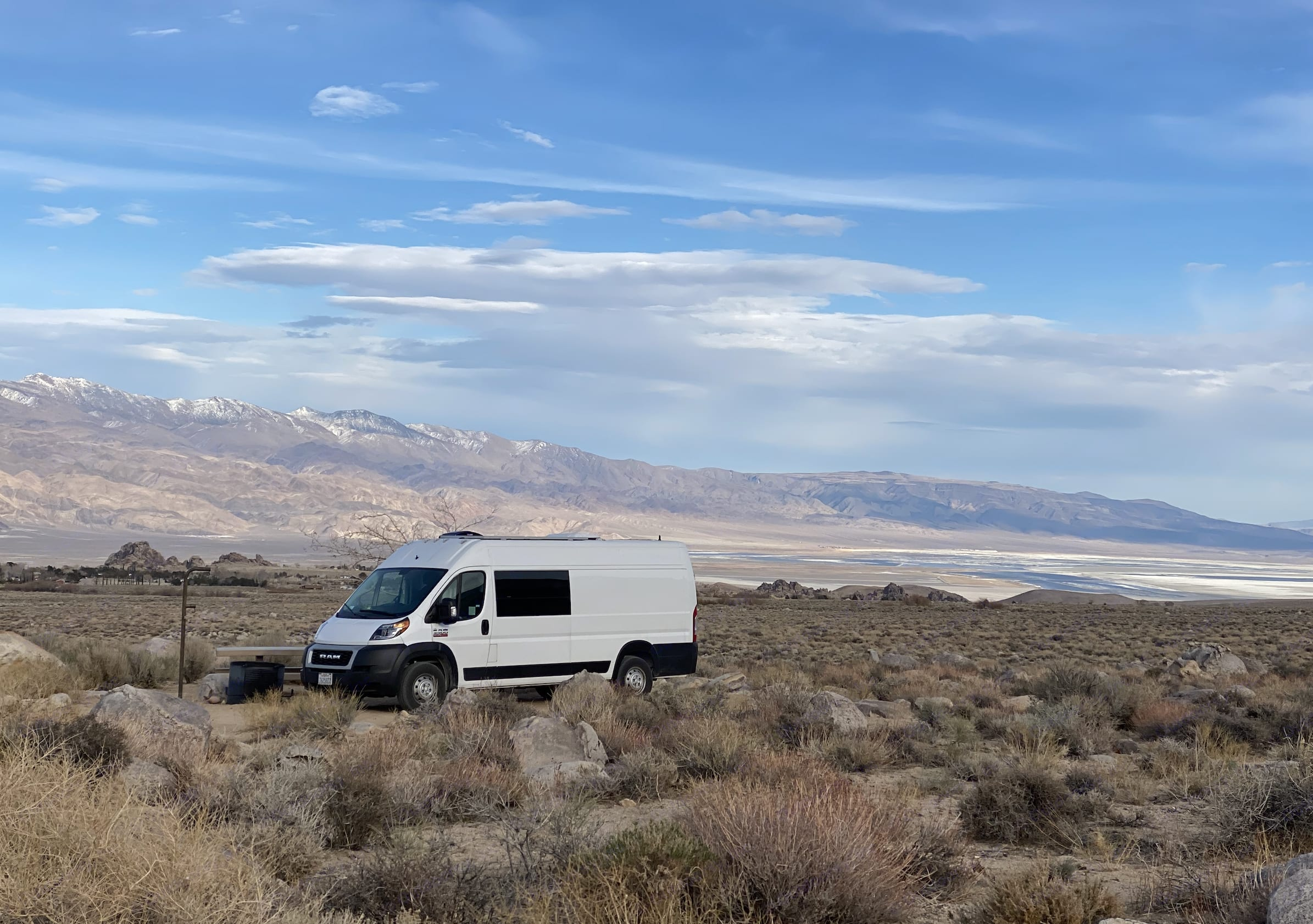 Camping at Alabama Hills, here she is from the outside drivers side.. Dodge Other 2019