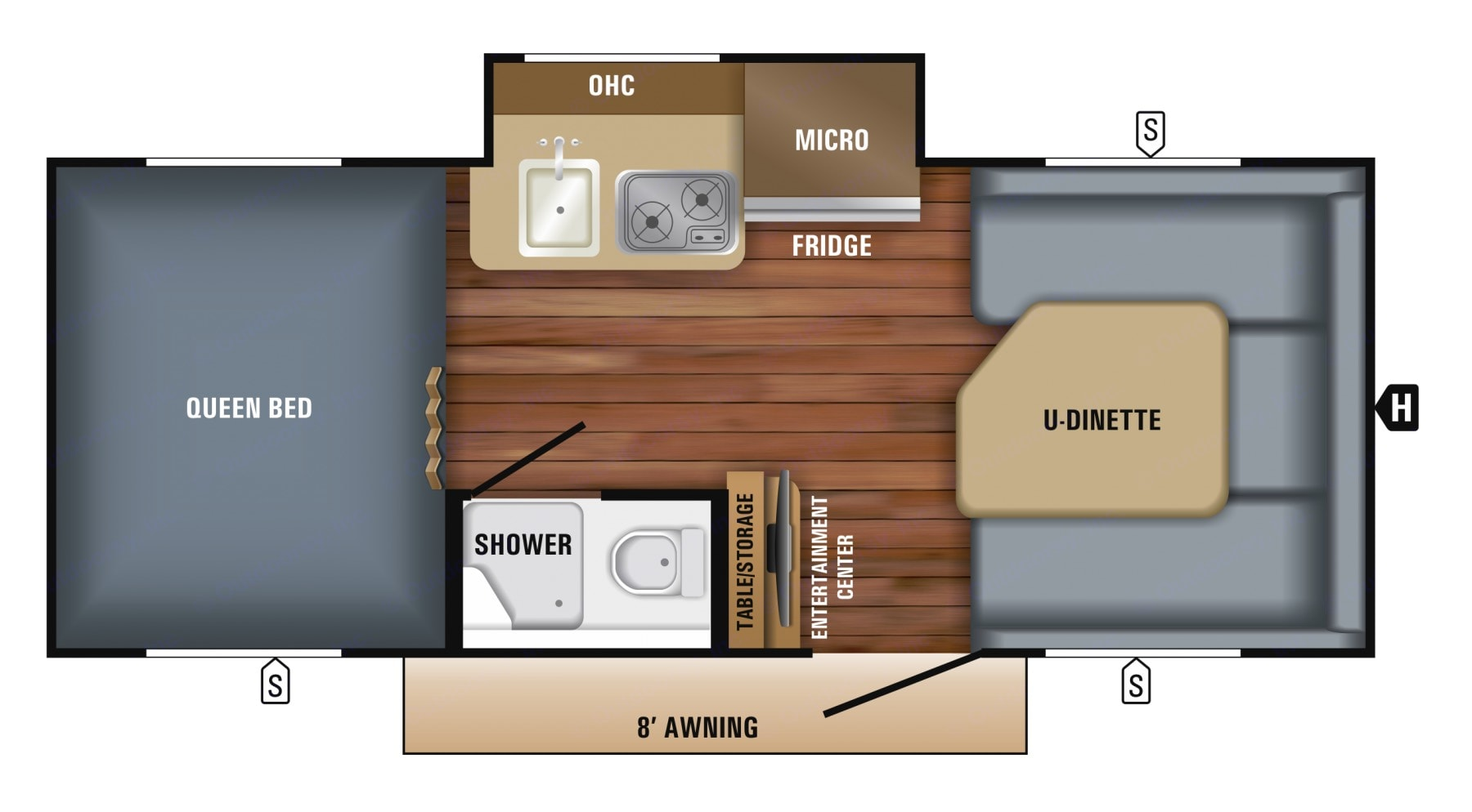 Dinette easily converts into another sleeping area! . Jayco Other 2018
