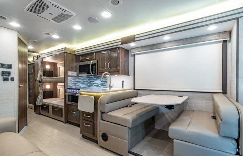 This is picture of the main living area when the 2ft slide out & giving you more space when you get to your campground. Entegra Coach Other 2020