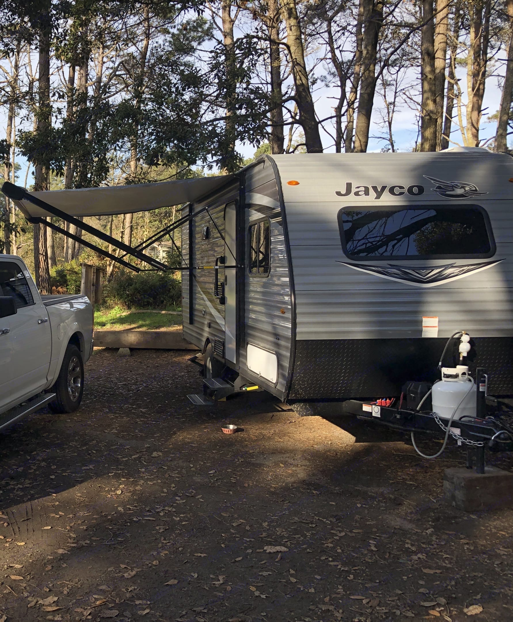 Outside of trailer - front view. Jayco Flight 2021