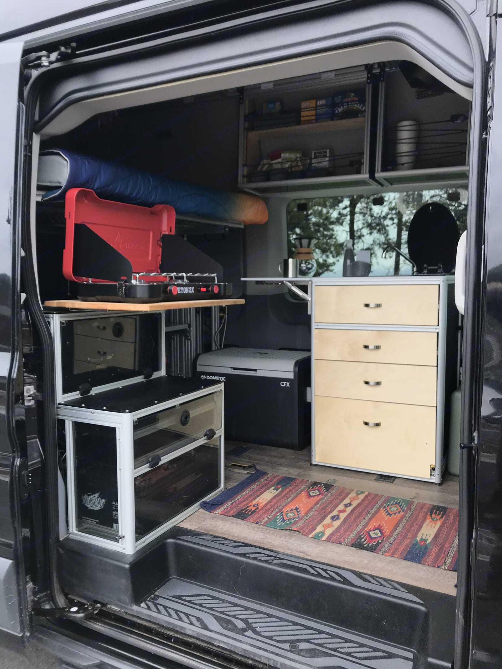 Kitchen for 2 set up for cooking.. Ford Transit Custom 2017