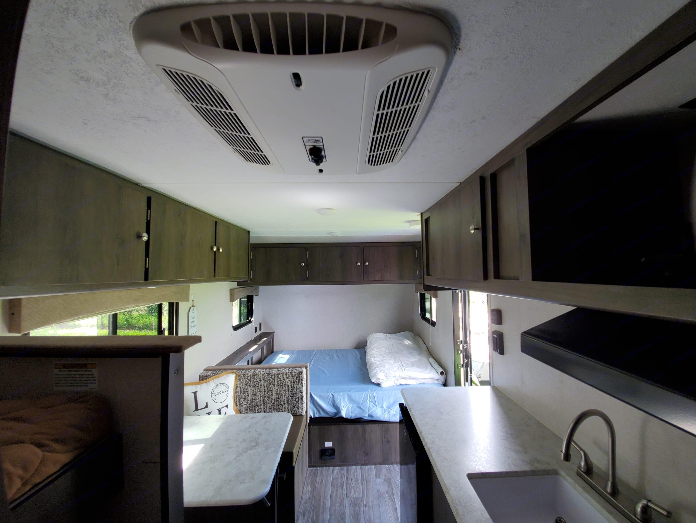 Plenty of overhead storage. Coachmen Viking 2020