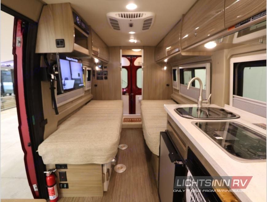 View from the front . Winnebago Travato 2017
