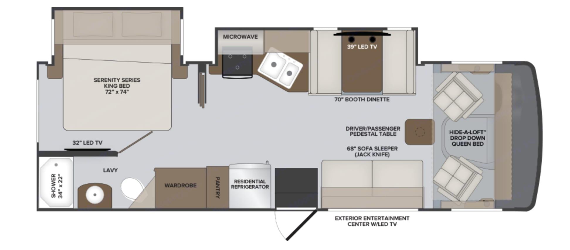 Floor Plan . Holiday Rambler Admiral 2021