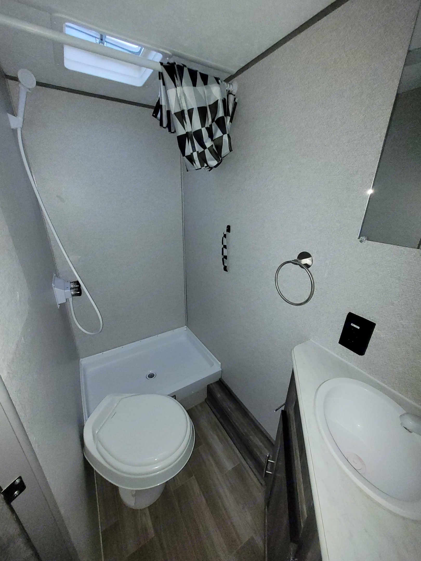 Surprisingly big bathroom for such a small trailer!. Forest River Wildwood 2020