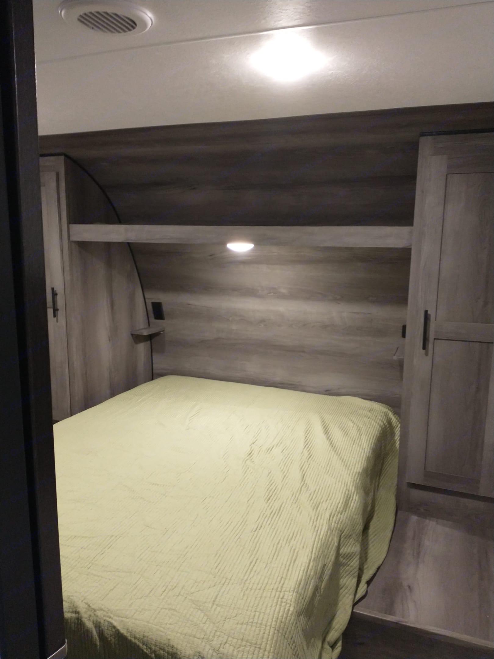 Master bedroom. K-Z Manufacturing Sportsmen 2021