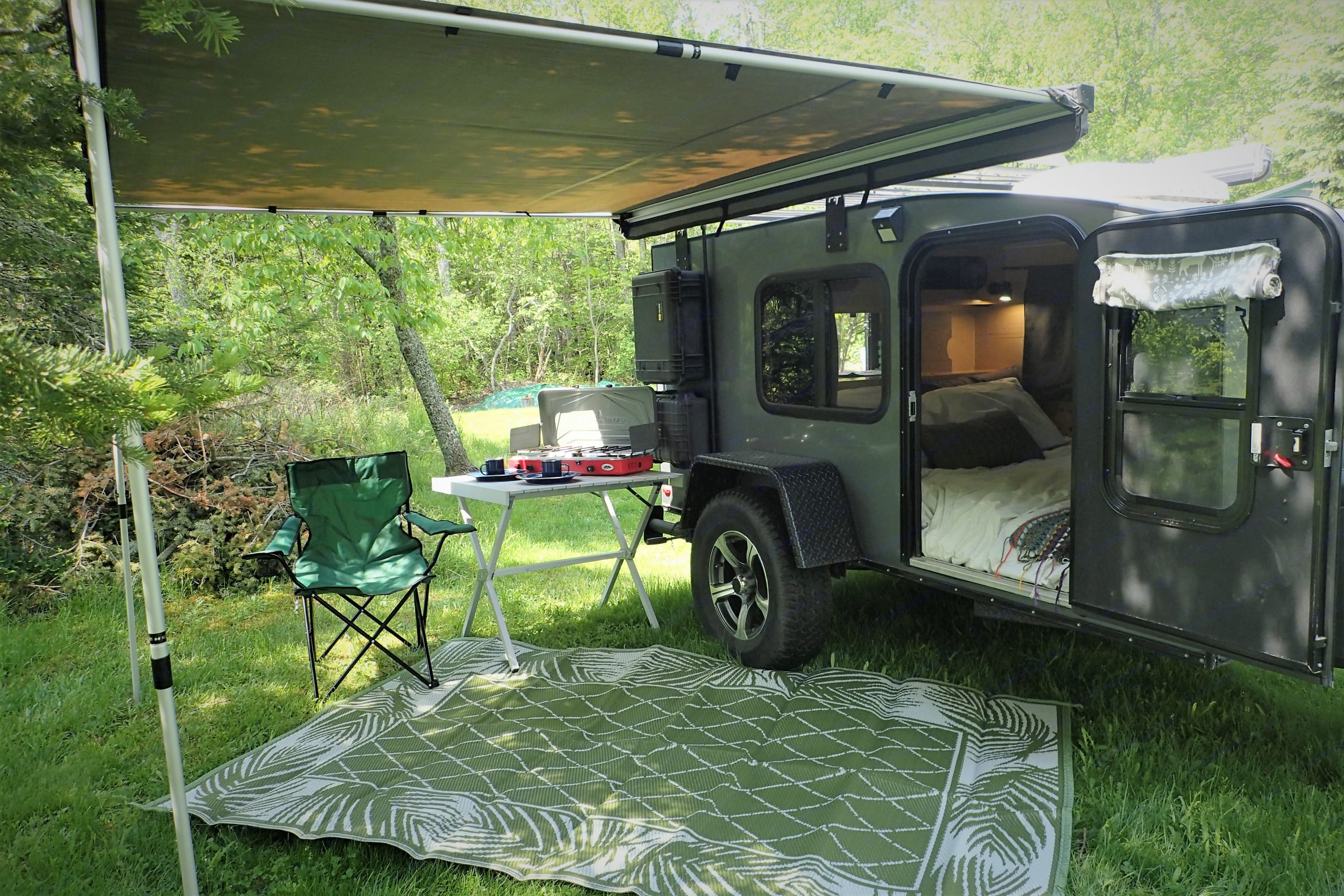 Trailer has awnings on both sides.. Hiker All-Terrain Camper 2019