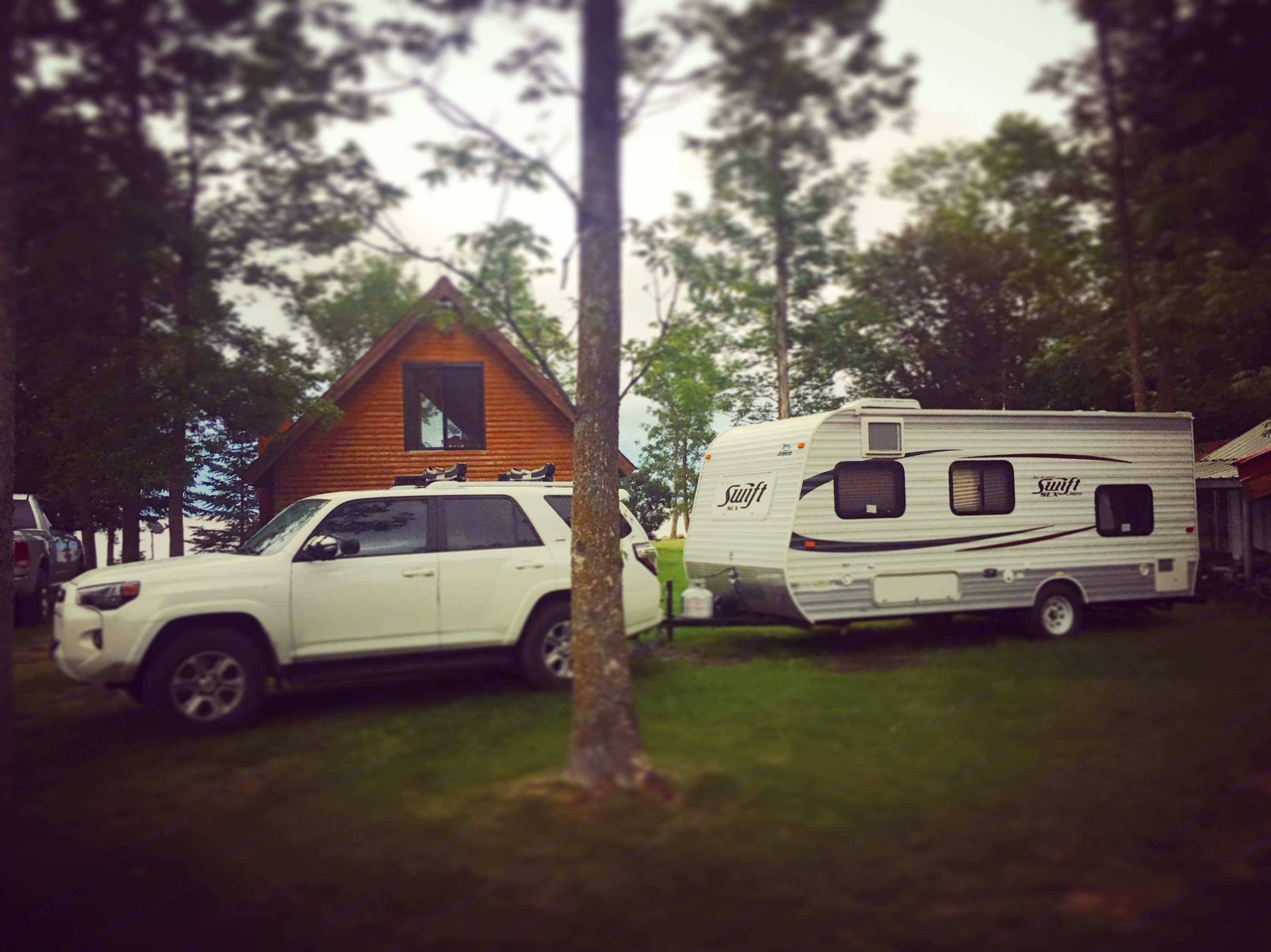 Trailer Swifty made it across the country to Lake of the Woods in Minnesota. Great times!. Jayco Jay Flight Swift 2013