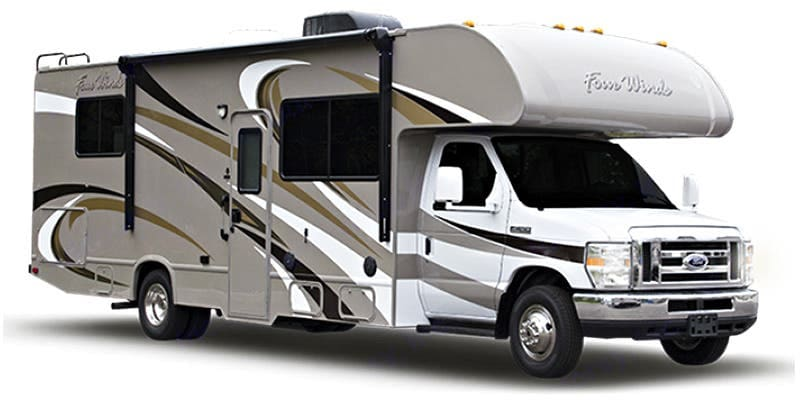 please note the unit is currently all white on the exterior. Thor Motor Coach Four Winds 2016
