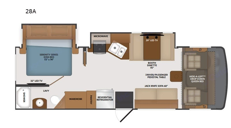 Floorplan allows for multiple people to stay in unit very comfortably.. Fleetwood Flair 2020