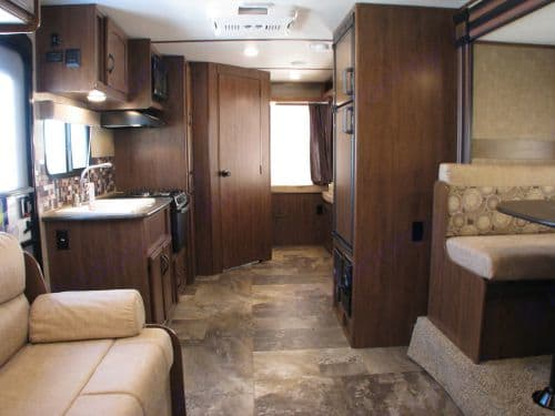 With fold out beds, that means all the interior is useable livable space making this trailer feel much larger than most trailers Stock Photo. Jayco Jay Feather 2016