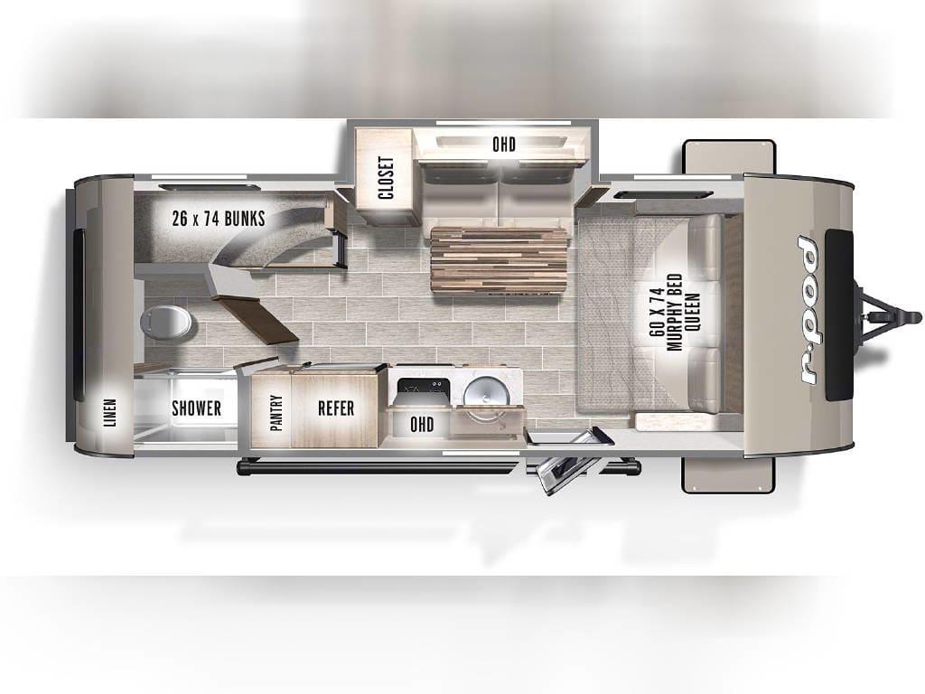 Brand new floorplan for 2021 R-Pod models!. Forest River R-Pod 2021