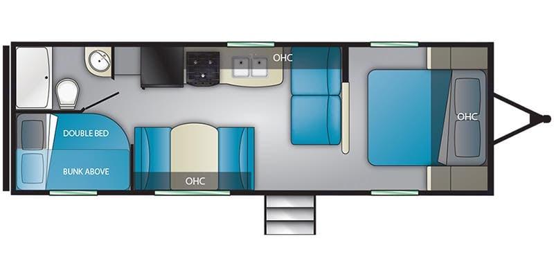 floor plan . Heartland Pioneer 2020