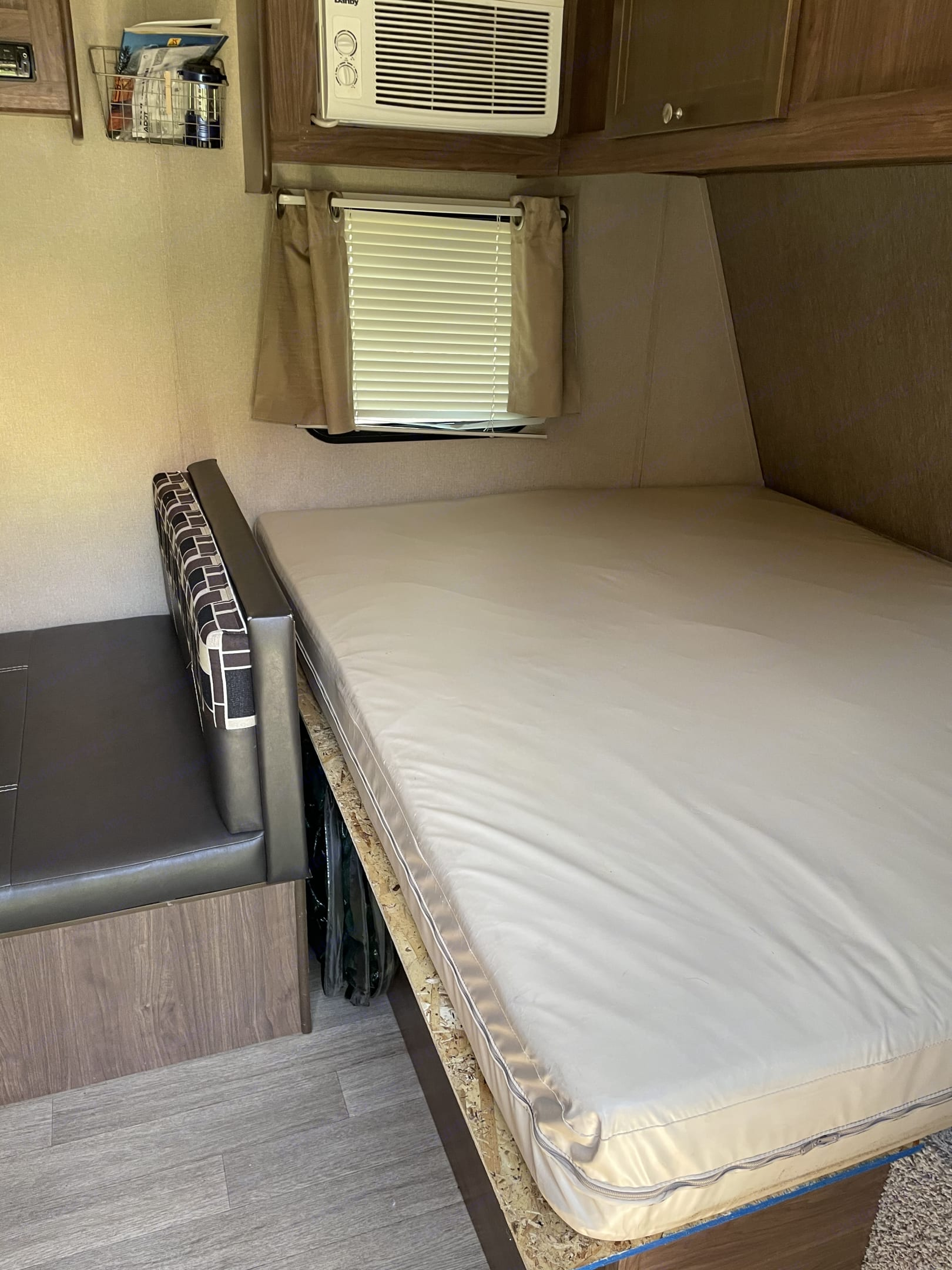 This is the main bed for the trailer.. Coleman Lantern 2017