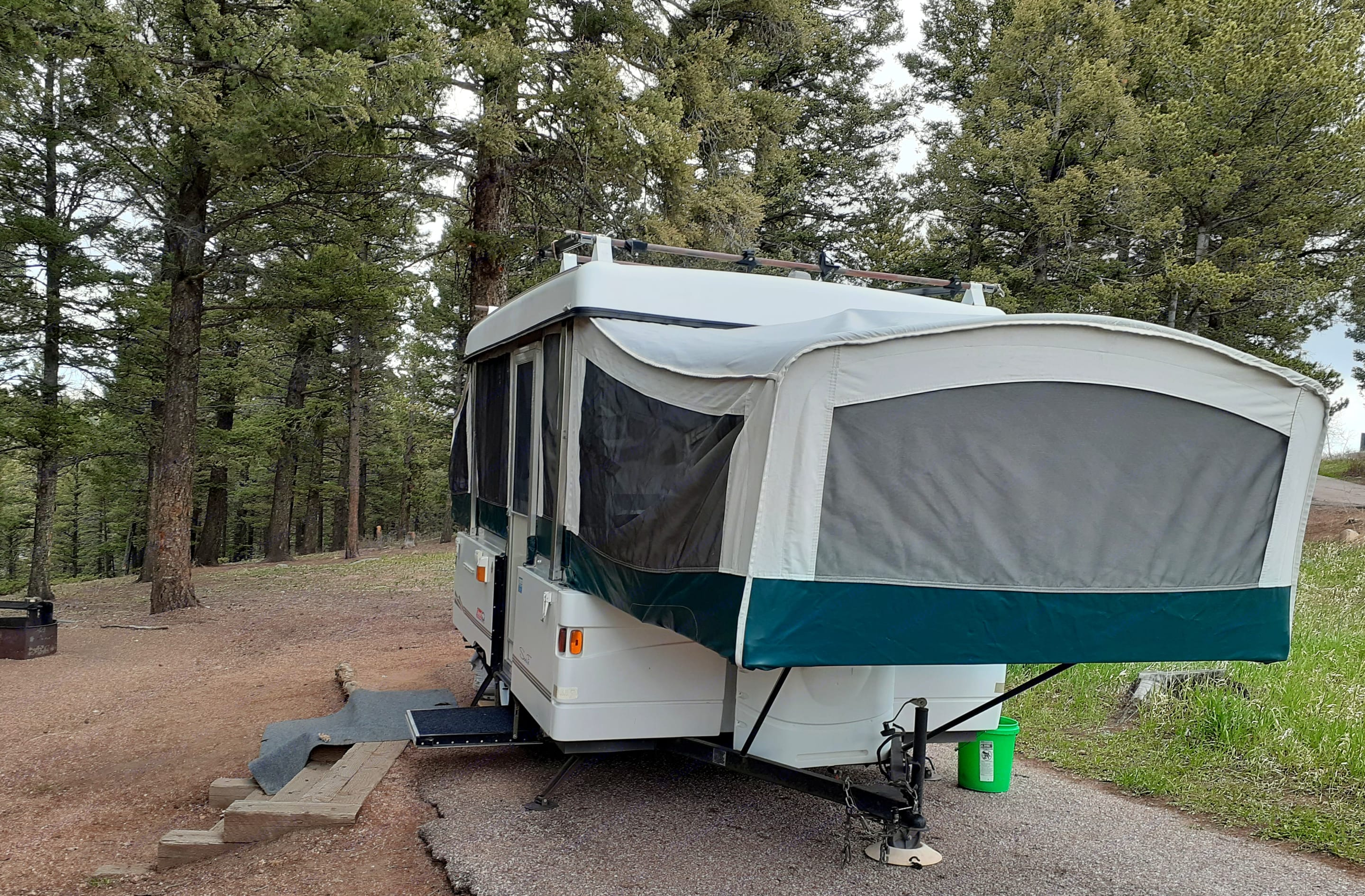 Camping in the forest. :) . Coleman Santa Fe 2001