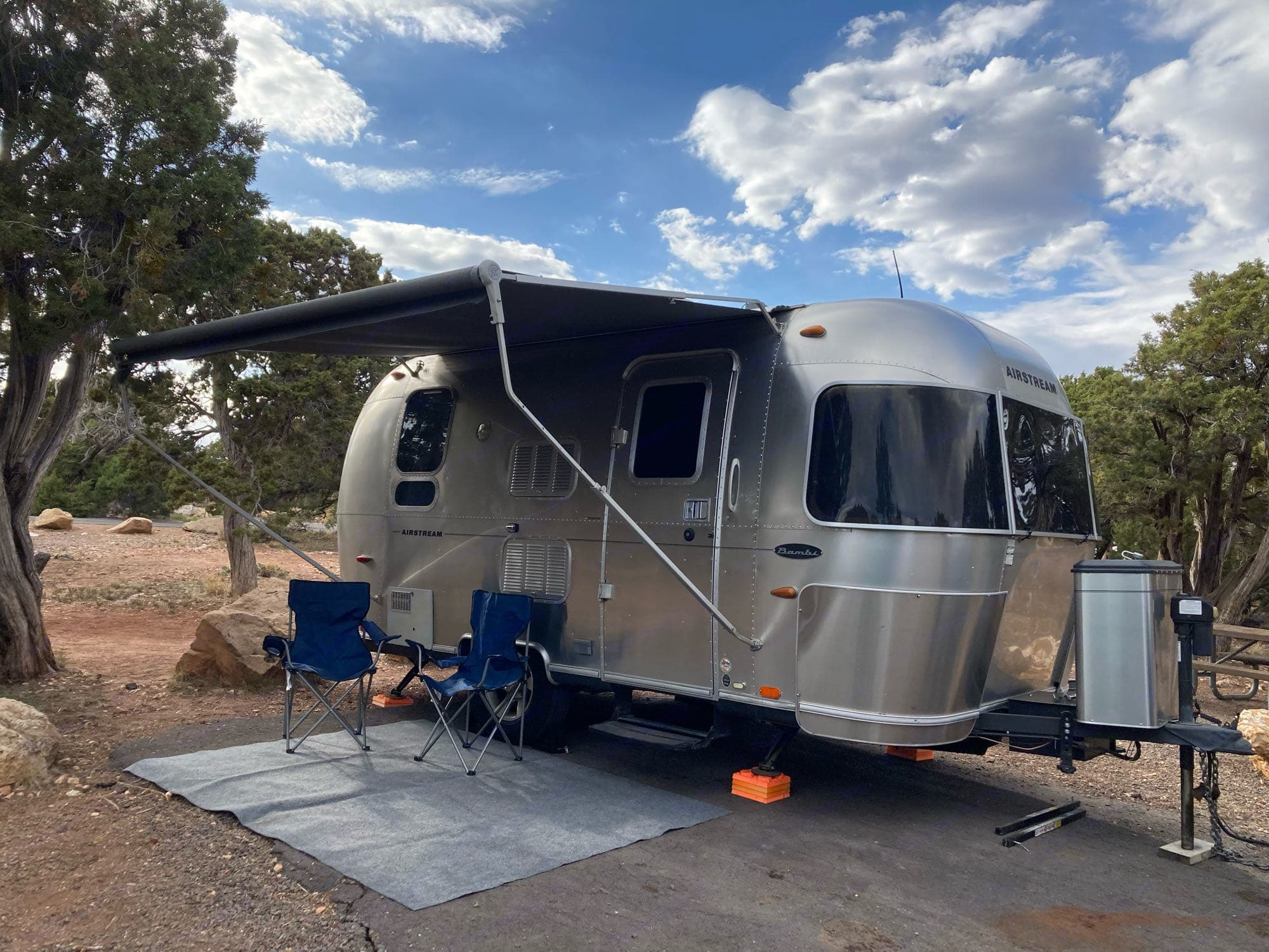 Camp Site at The Grand Canyon. Airstream Flying Cloud 2009