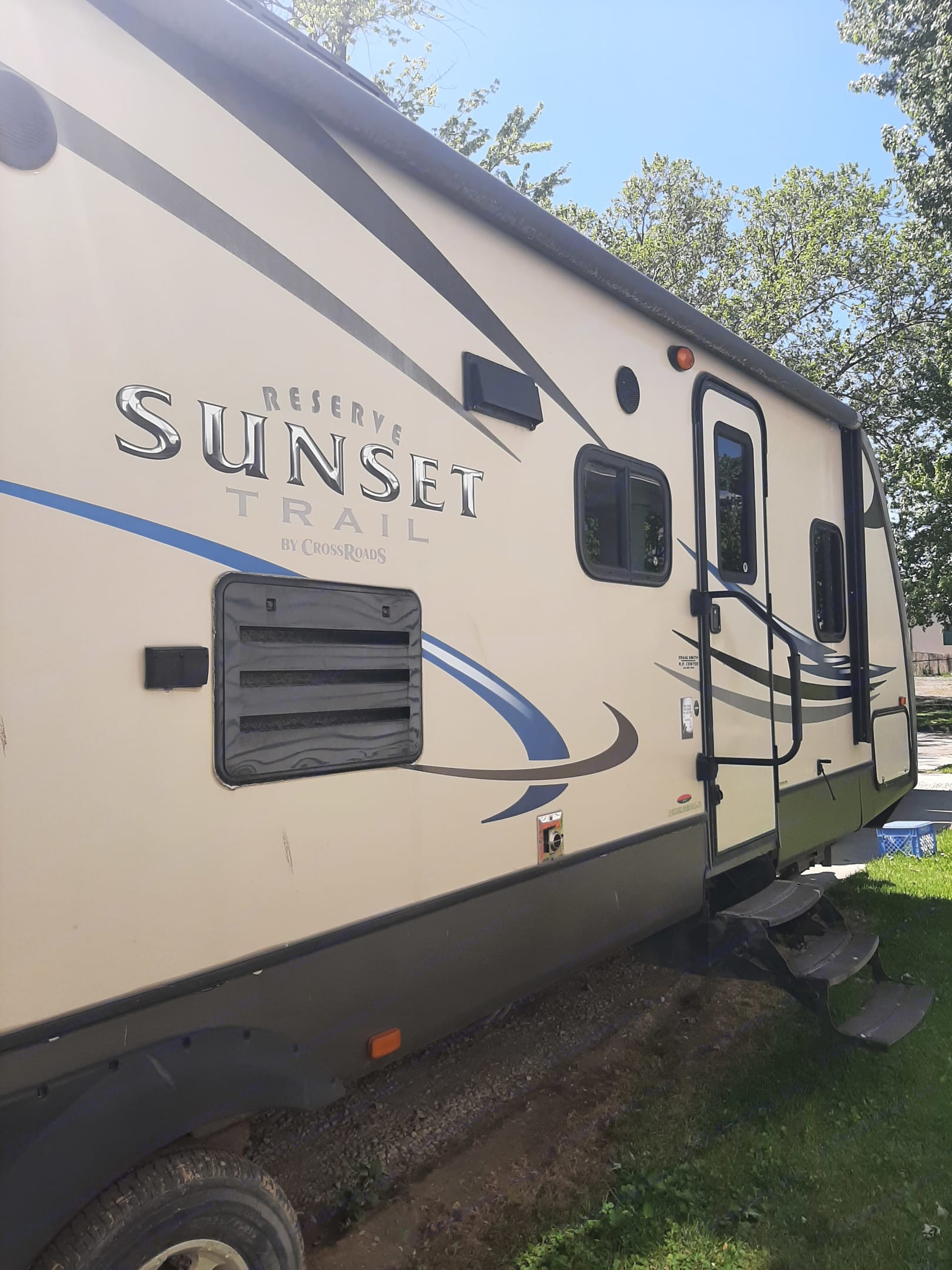Entrance to Trailer. Crossroads Sunset Trail 2013