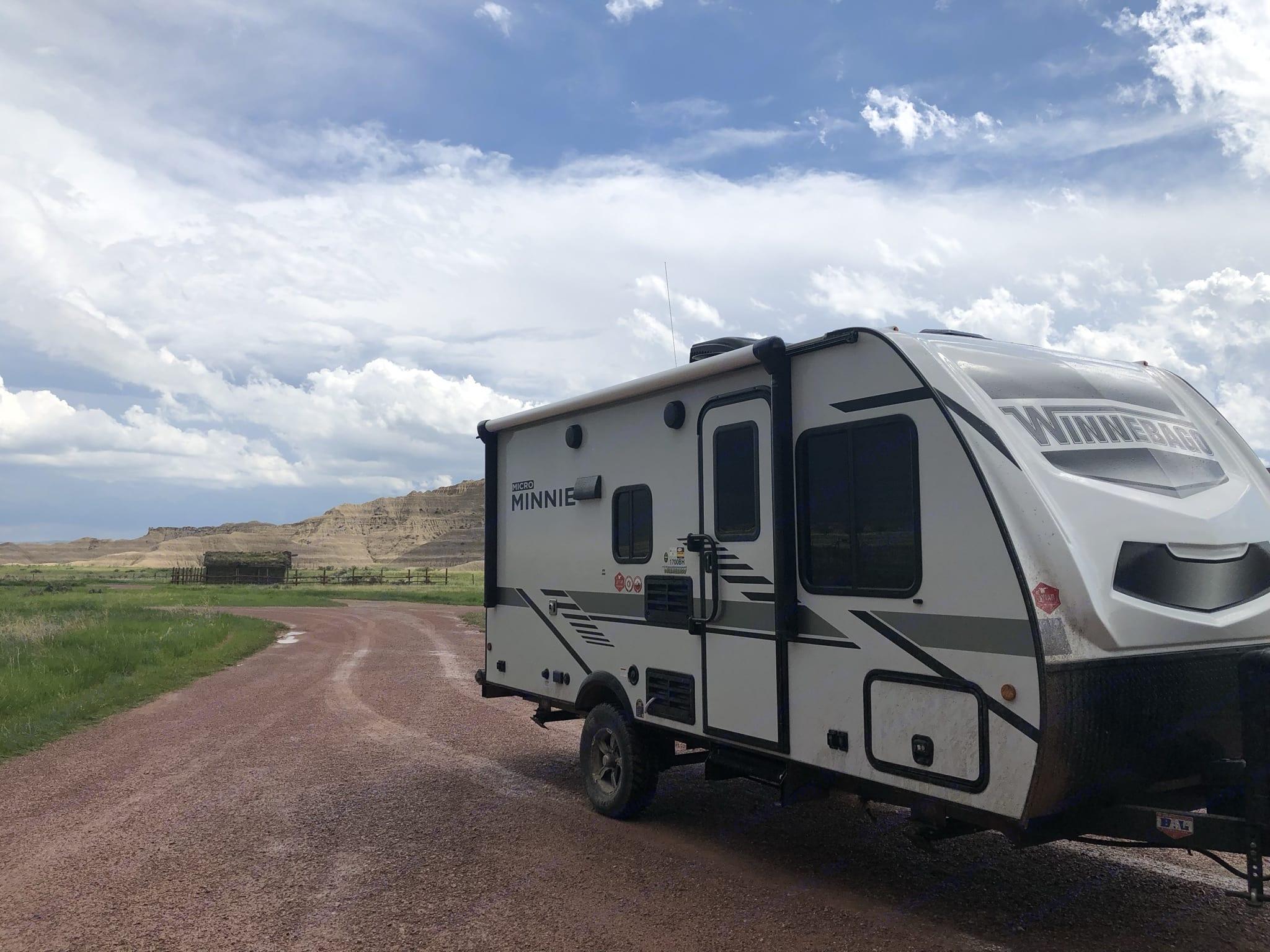 Toadstool Park in Nebraska. On the road!. Winnebago Micro Minnie 2021